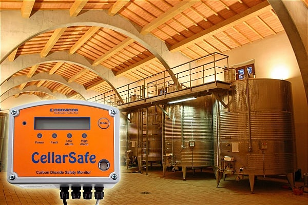 CellarSafe e Xgard detectores de gás CO2 fixos