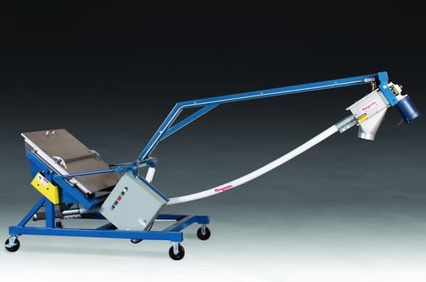 Bulk Conveyor with Tilt-Down Portable Base