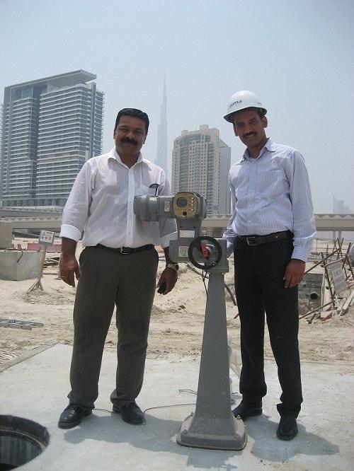 Eine der von AUMA auf die Dubai Electricity and Water Authority geliefert Aktoren
