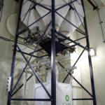 Sac en vrac la charge de Spiroflow est rempli de quatre silos différents engrais contenant de tailles différentes