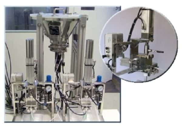 The MicroPTS* allows precise volumetric dosing of very small amounts of all types of powders
