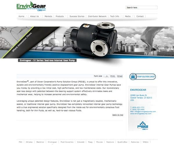 Nuovo sito web di EnviroGear