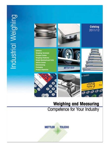 METTER TOLEDO's Industrial Catalogue