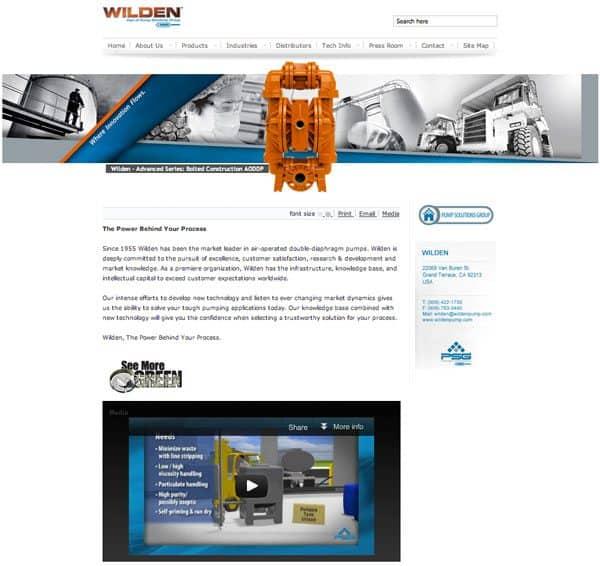 Sito web riprogettato di Wilden