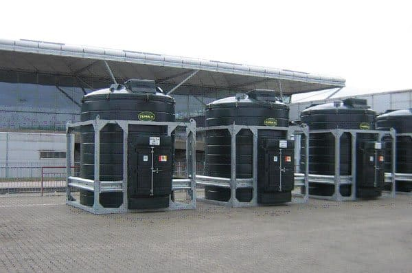 Tuffa chemical storage tanks made with glass fibre reinforced (GRP)