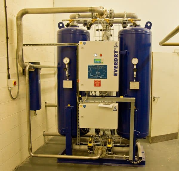 The EVERDRY FRAV 2 twin column desiccant dryer with vacuum technology