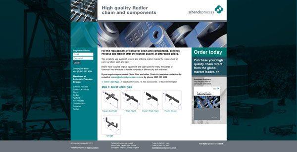 Schenck Process, Chains, Redler chain conveyors