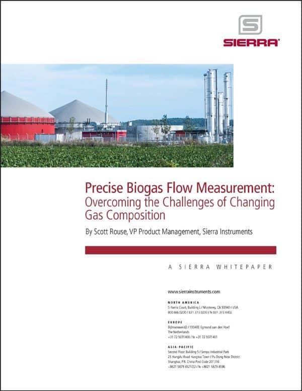 papel blanco de medición de biogás