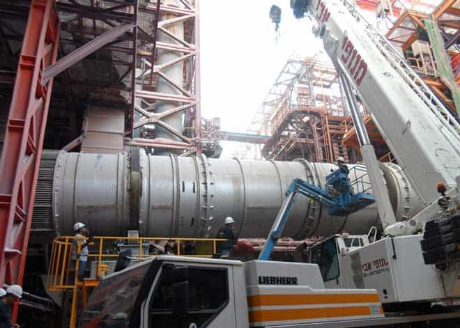 main rotary dryer being delivered to Dead Sea Works