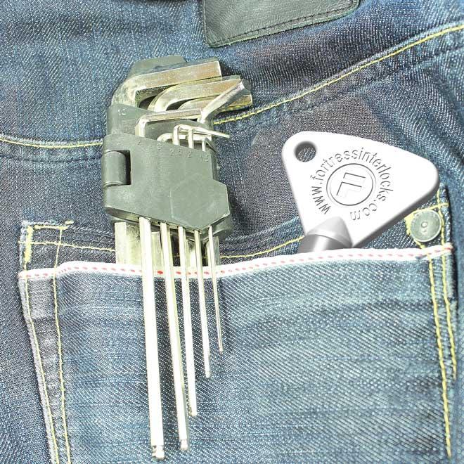 bolsillo para llaves de seguridad