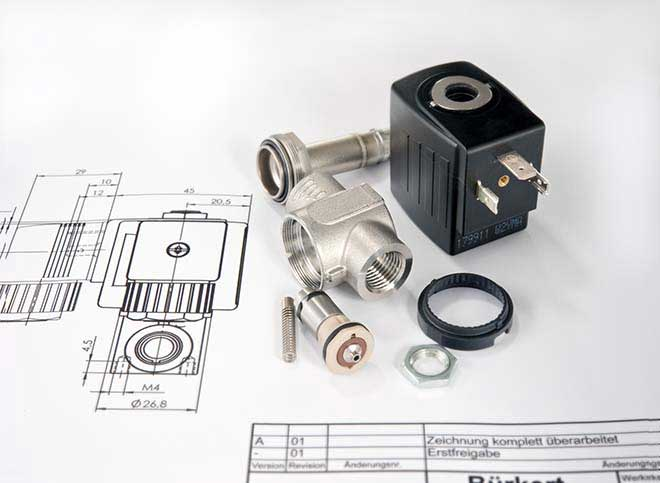 Design della valvola solenoide