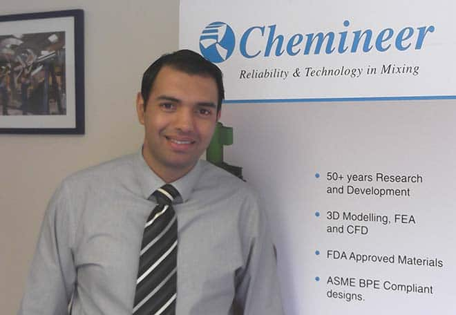 Chemineer's Irfan Rehman