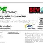 certificación de calibración