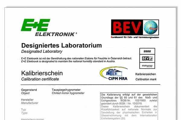 Calibration Certificates Maintain Standards for Humidity & Air ...