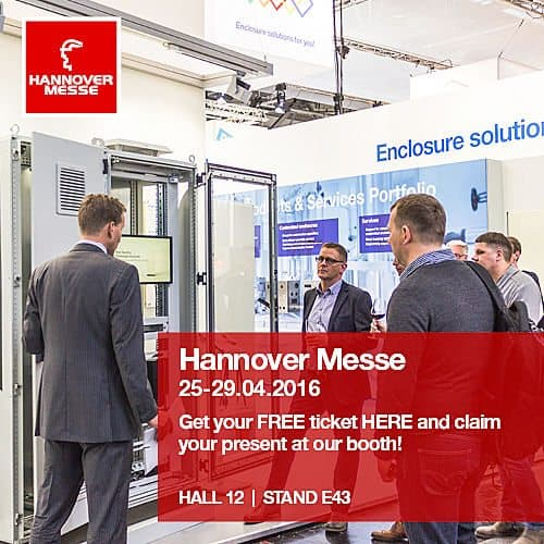 Floor Standing & Wall Mounted Enclosures on Show at Hannover Messe