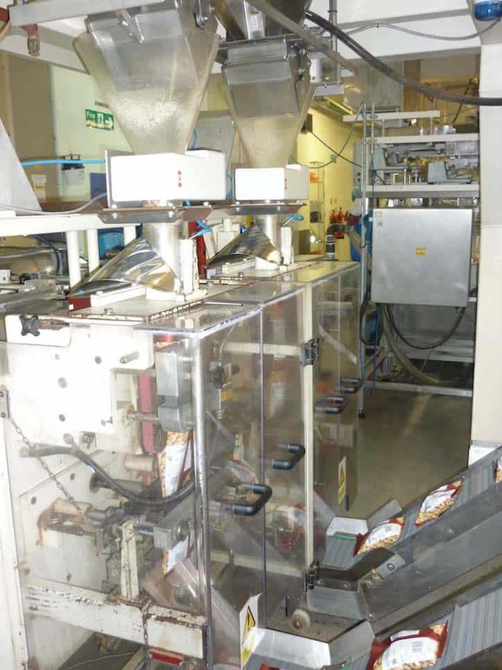 Os detectores de metais são mais prevalentes nas linhas de ensacamento e VFFS