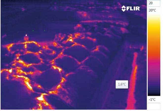 mazzo di immagini termiche