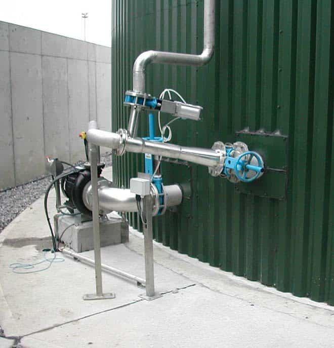 """Landia""""s externally mounted GasMix AD digester mixing system"""