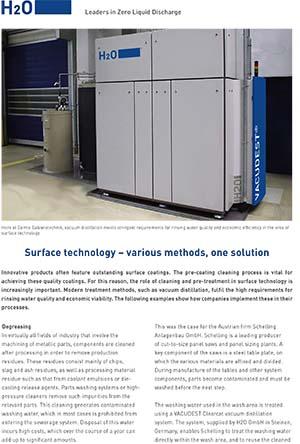 Oberflächentechnik - verschiedene Methoden, eine Lösung