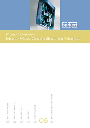 Bürkert Product Overview: Mass Flow Controllers for Gases