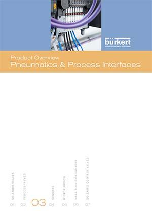 Descripción del producto Burkert: Interfaces neumáticas y de proceso