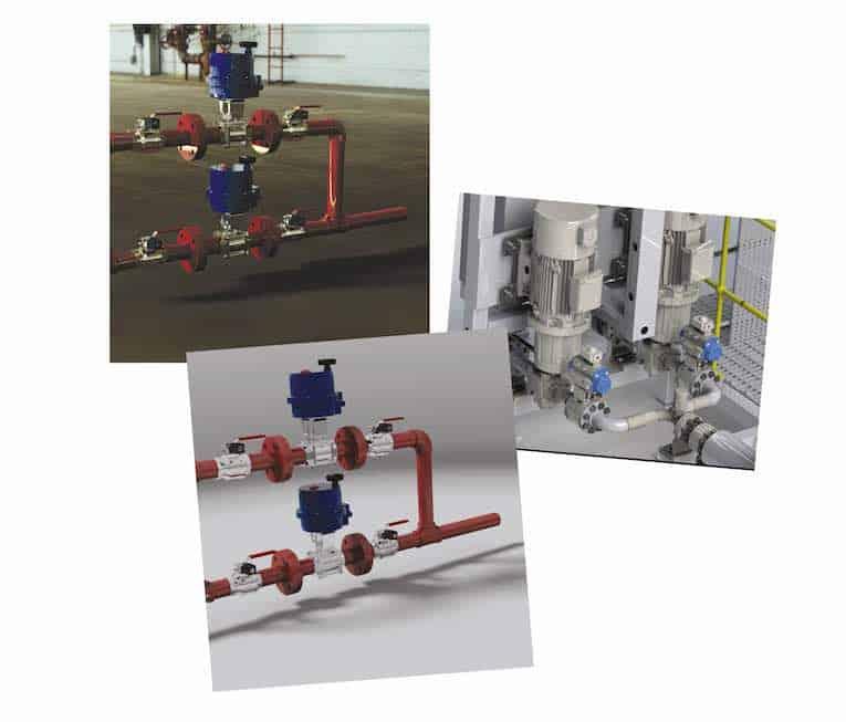 Service de dessin de la vanne de traitement 3D