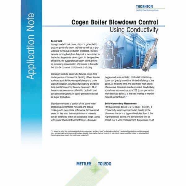 control de purga de la caldera de cogeneración