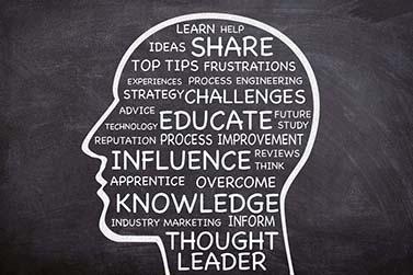 Bliv en tanke leder
