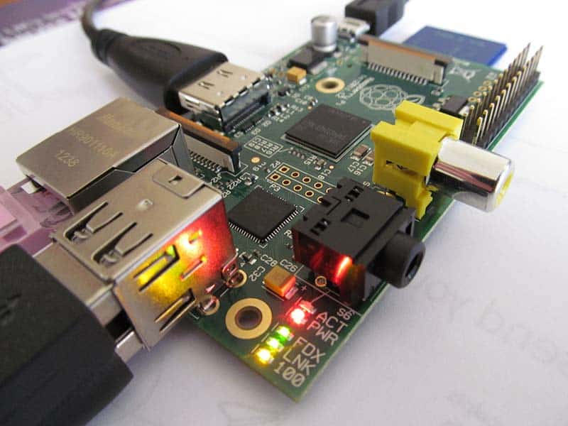 Raspberry Pi, ein Single-Board-Computer mit Linux.