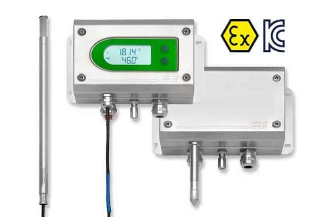 Trasmettitore di temperatura dell'umidità EE300Ex