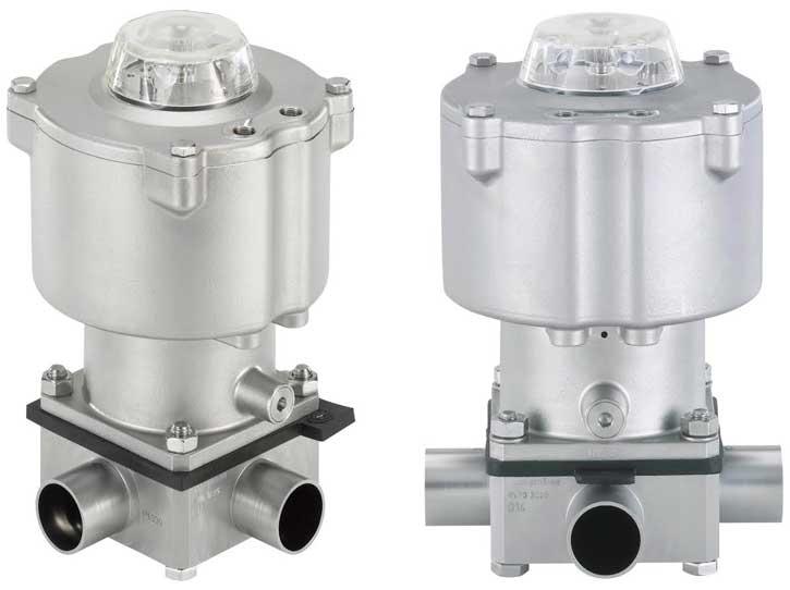 Hygienic control valves