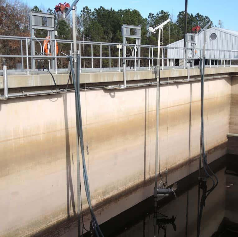 aerated sludge tanks