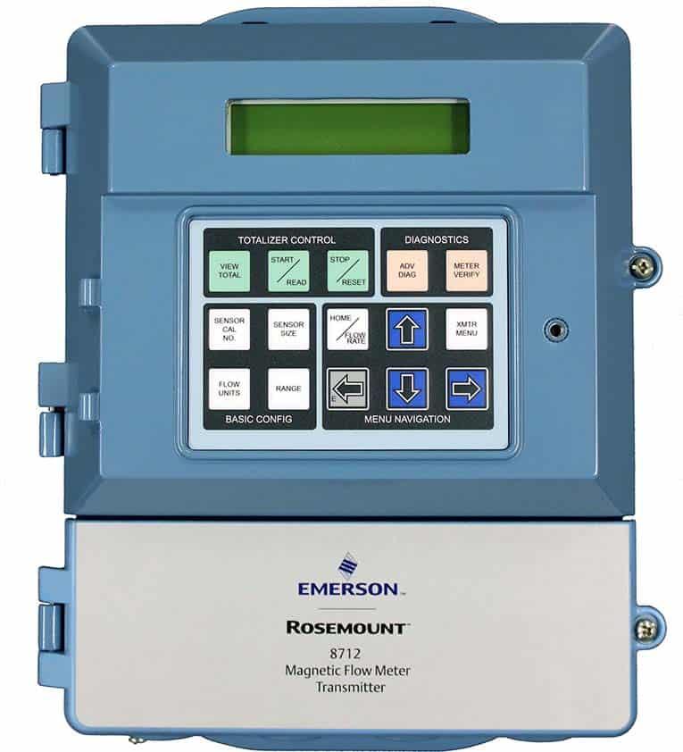 transmisor de medidor de flujo emerson-magnético