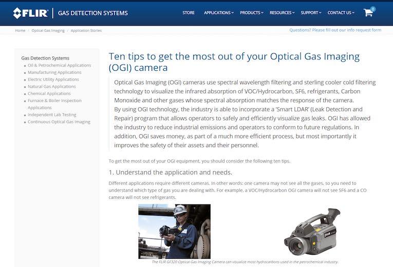 Handbuch für optische Gaskameras