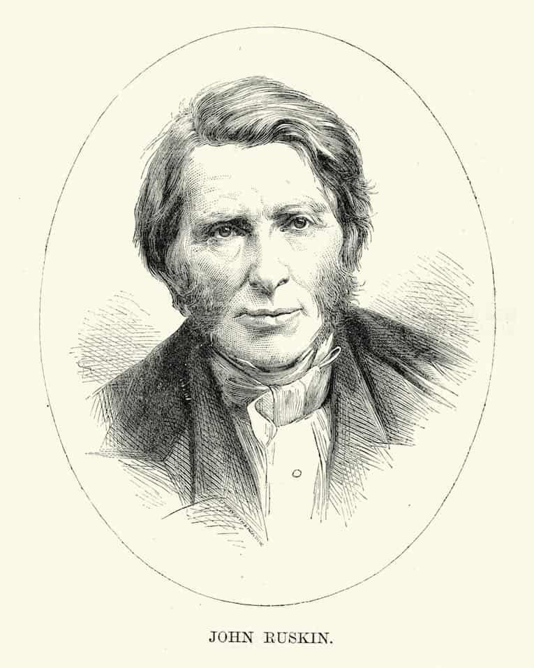 Porträt von John Ruskin