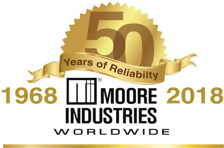 moore industries 50 anniversary