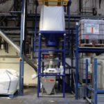 máquina de triagem grande saco de vidro reciclado