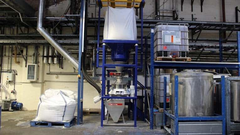 máquina de cribado bolsa grande de vidrio reciclado
