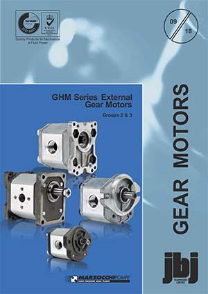 Motores de engrenagens hidráulicas GHM Grp 2 + 3