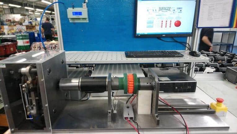 prueba de rendimiento del motor