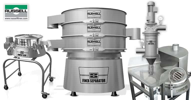 russell Finex industrial sieve filter food
