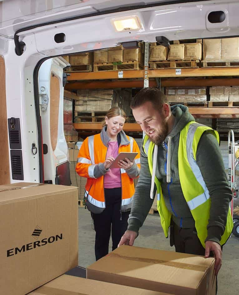 emerson's global shipping service