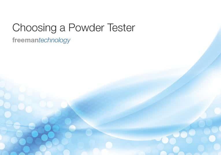 udvælgelse af pulver tester