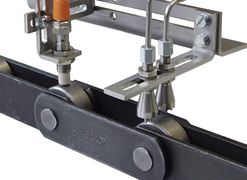 Chain lube nozzles sensor - Food Processing Machinery Contamination