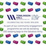 tomlinson-zaal viert 100-jaren
