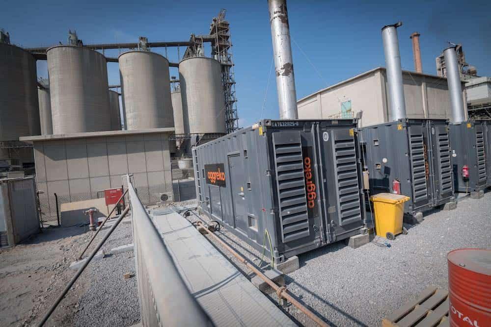 Gas vs elektriciteit Kosten Fujairah Union Cement Factory-site