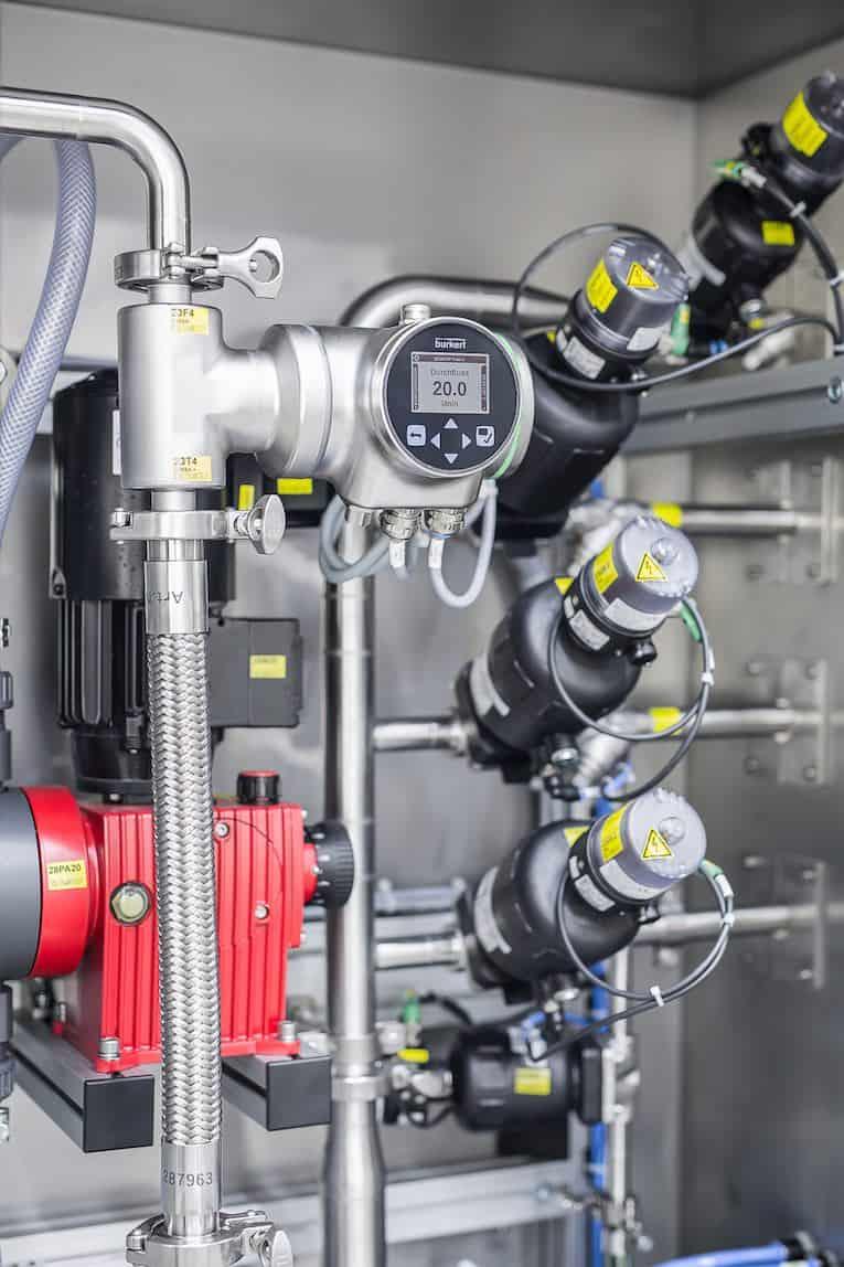 flussometro in acciaio inossidabile
