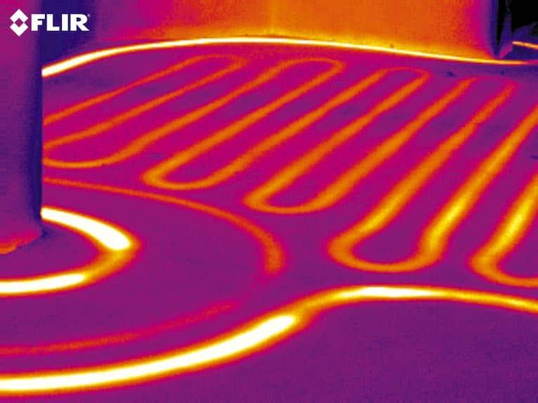 thermal image underfloor heating elements