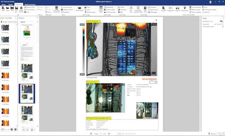 relazione del pannello di circuito thermalstudio