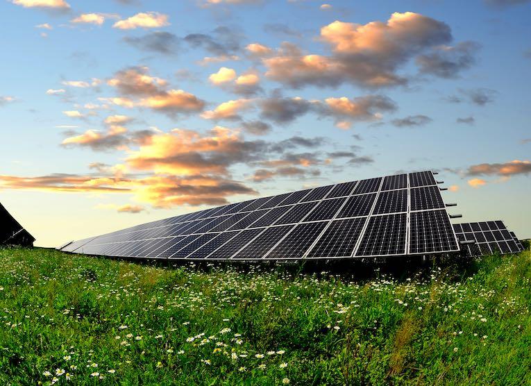 Silizium-Solarpark